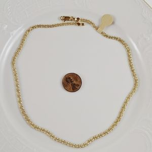"Vintage 14kt Gold Plated Double Weave 16"" Necklace"